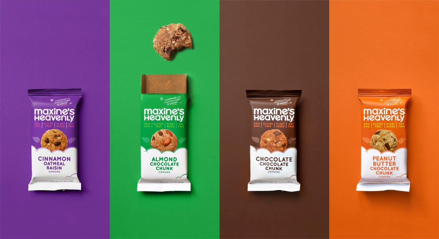 Two-pack flavors with cookie bite animation