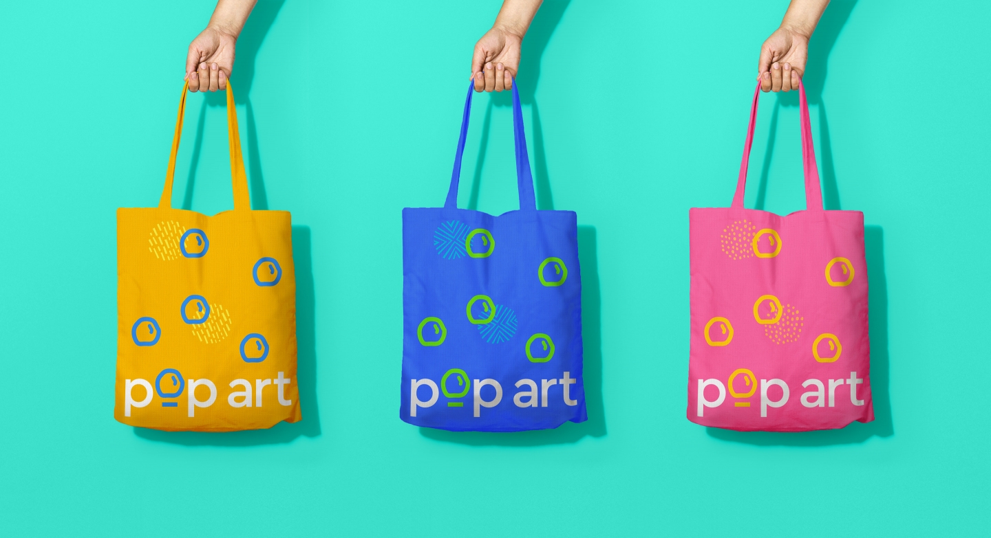 Lotus Pops pop art tote bag designs