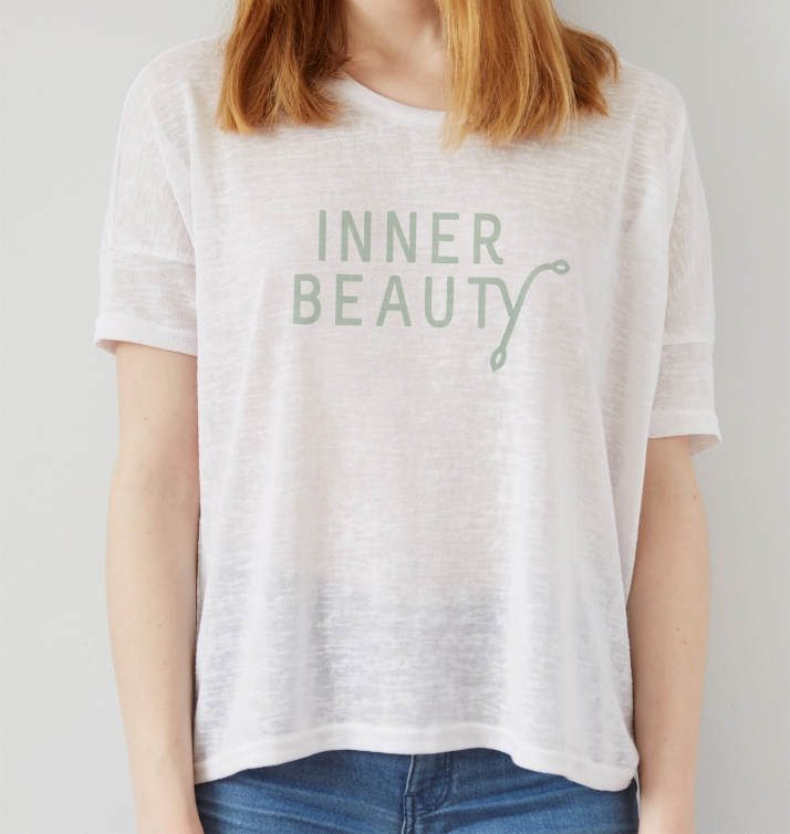 Inner Beauty t-shirt design for natural woman